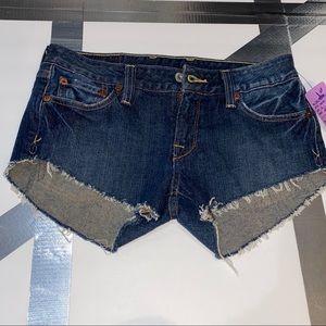 Lucky Brand Daisy Duke Cutoff Denim Shorts
